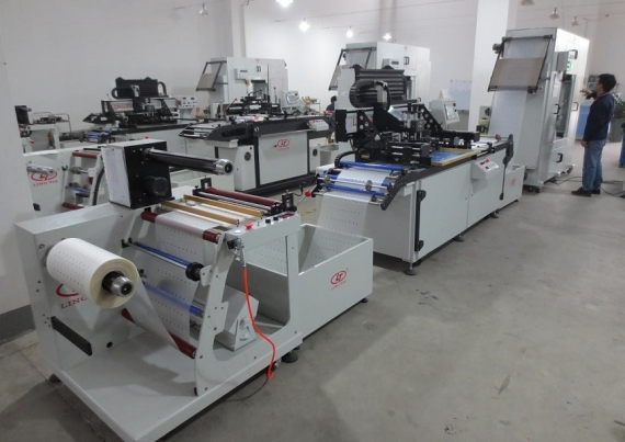 Roll to Roll Screen Printing Machine untuk PVC, PET