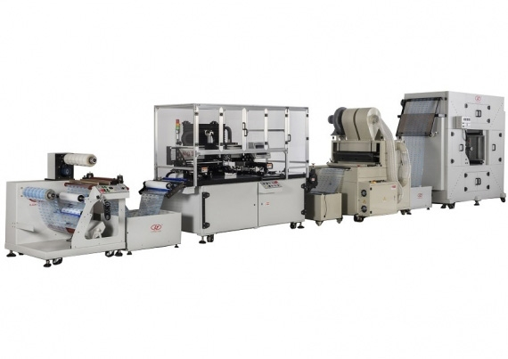 Gulung Web Roll ke Roll Screen Printing Press & Serbuk Spraying Machine